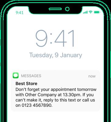 Automatiska uppföljningar via sms