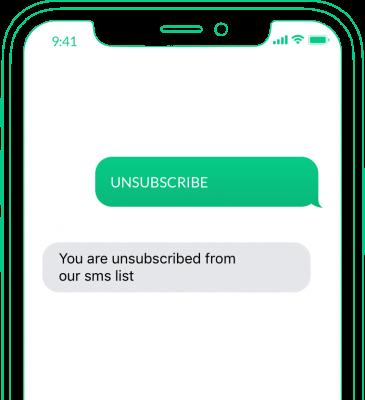 avregistrera sig via sms
